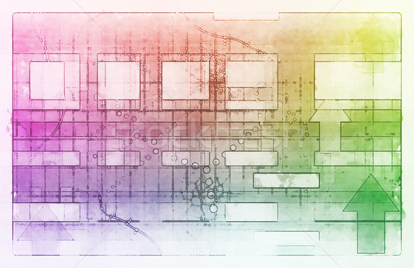 Technológia tiszta egyszerű vonalak terv háló Stock fotó © kentoh