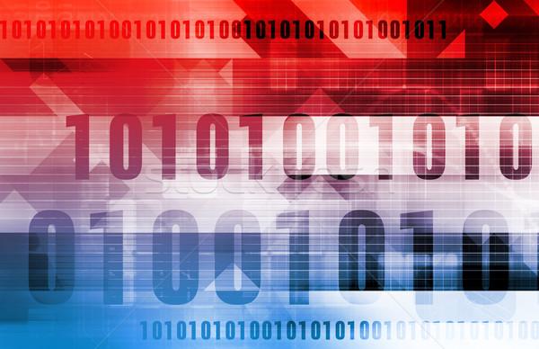 デジタル コード ビジネス 背景 セキュリティ ネットワーク ストックフォト © kentoh