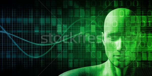 Tudomány technológia test absztrakt természet modell Stock fotó © kentoh