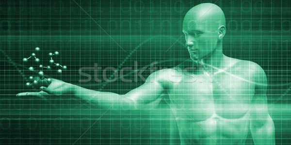 Ciencia moléculas investigación desarrollo diseno salud Foto stock © kentoh