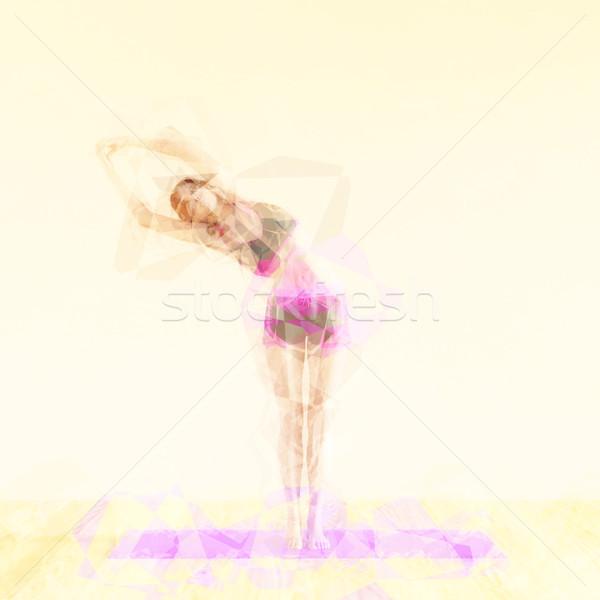 Pilates ilustração abstrato exercer mulher fundo Foto stock © kentoh