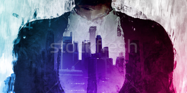 Corporate Dark Side of the City Stock photo © kentoh