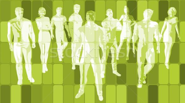 Technologie tendances numérique tech affaires industrie Photo stock © kentoh
