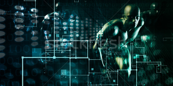 Stock photo: Abstract Network Illustration