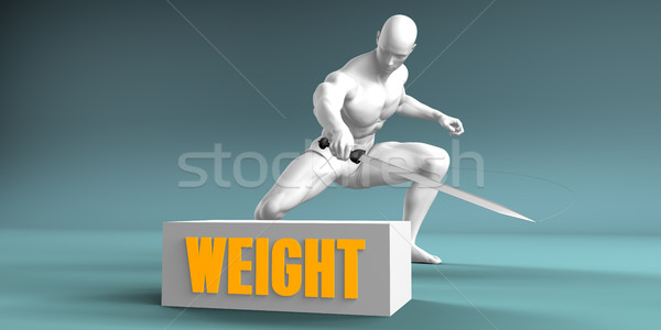 Cutting Weight Stock photo © kentoh