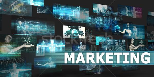 Marketing bemutató technológia absztrakt művészet internet Stock fotó © kentoh