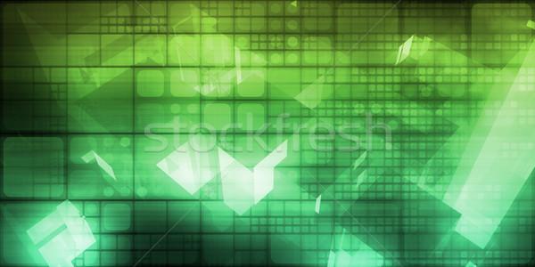 Számítástechnika absztrakt művészet cseresznye számítógép háttér Stock fotó © kentoh