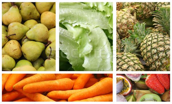 Photo stock: Fruits · légumes · variété · choix · collage · fruits