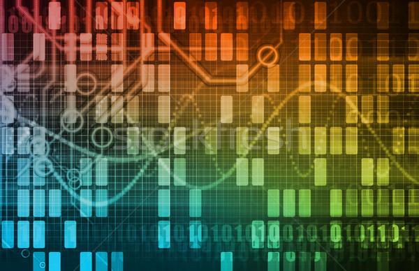 Futuristic Network Energy Data Grid Stock photo © kentoh