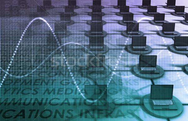 Dados rede corporativo serviço software criador Foto stock © kentoh