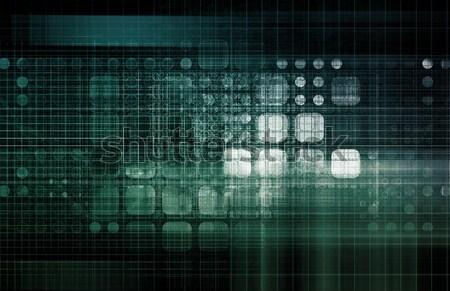 Zdjęcia stock: Technologia · informacyjna · danych · sieci · biuro · tle · korporacyjnych