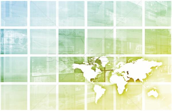 Global Business Erfolg Wachstum Kunst Computer Sicherheit Stock foto © kentoh