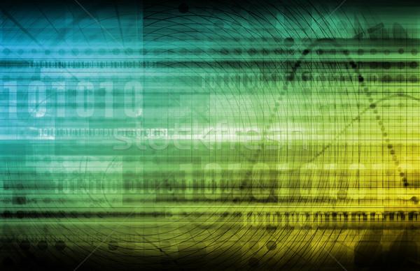 Analitica previsione software arte abstract design Foto d'archivio © kentoh