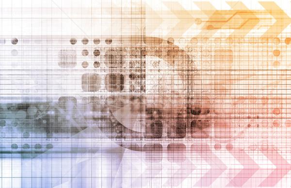 Futurystyczny cyfrowe sieci danych komunikacji sztuki Zdjęcia stock © kentoh