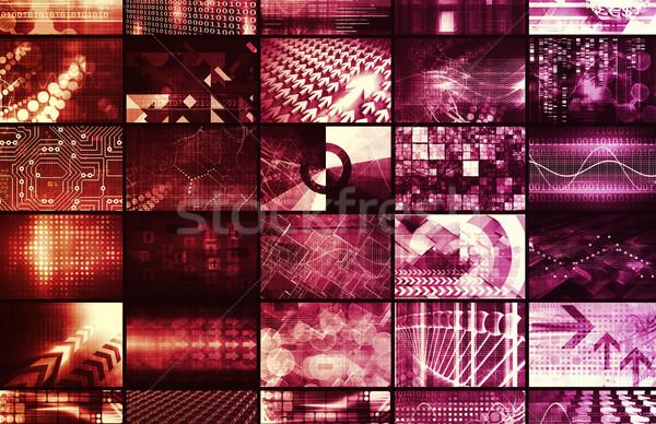 Stock fotó: Genetika · technológia · kutatás · tudomány · művészet · absztrakt