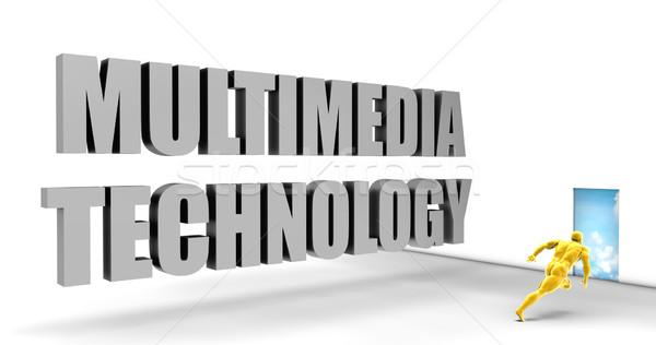 Multimedialnych technologii szybko utwór kierować pośpieszny Zdjęcia stock © kentoh