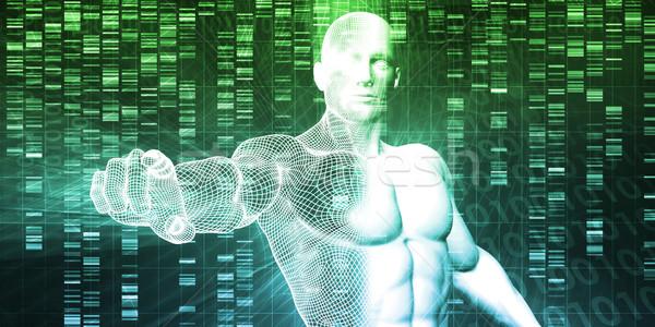 Genético pruebas análisis resumen educación medicina Foto stock © kentoh
