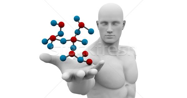 Science technologie 3D génétique atomique résumé Photo stock © kentoh