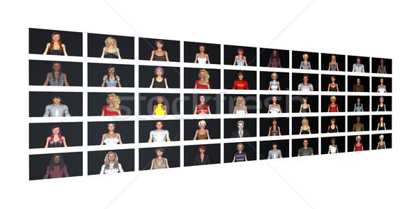 Crowdsourcing ağ kullanıcılar dünya web takım Stok fotoğraf © kentoh