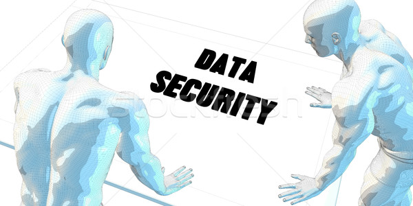 Segurança de dados discussão reunião de negócios arte reunião fundo Foto stock © kentoh