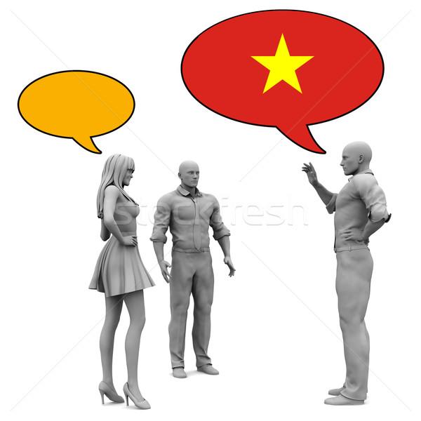 узнать культура язык женщину мужчин группа Сток-фото © kentoh