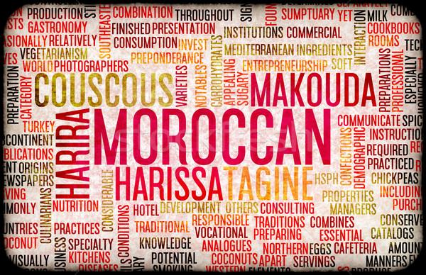Moroccan Food Menu Stock photo © kentoh