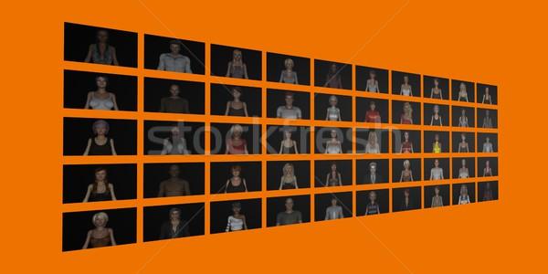 Hedef izleyici çevrimiçi web sitesi iş kalabalık Stok fotoğraf © kentoh