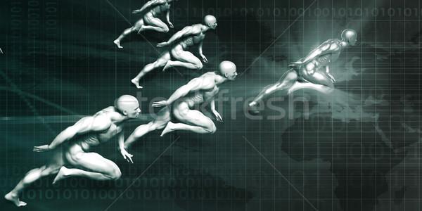 İş stratejisi analitik çözümler teknoloji iş pazarlama Stok fotoğraf © kentoh