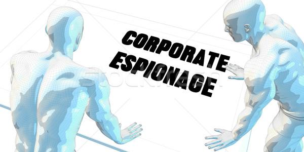 Corporativo espionagem discussão reunião de negócios arte reunião Foto stock © kentoh