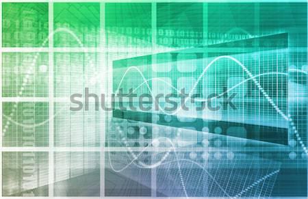 Danych strumienia Internetu cyfrowe informacji ruchu Zdjęcia stock © kentoh