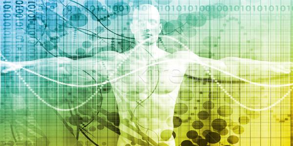 Ciência tecnologia humanismo corpo anatomia pesquisa Foto stock © kentoh
