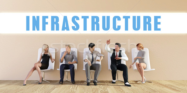 Negócio infra-estrutura grupo reunião homem fundo Foto stock © kentoh