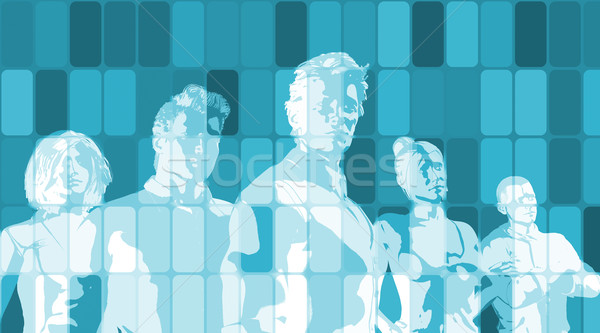 Foto d'archivio: Business · obiettivi · insieme · riunione · tecnologia · sfondo