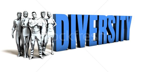 Diversità business donne squadra corporate società Foto d'archivio © kentoh