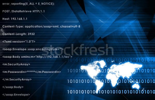 Globális üzlet üzlet háttér biztonság háló kék Stock fotó © kentoh
