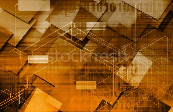 Eletrônico comércio indústria serviço negócio internet Foto stock © kentoh
