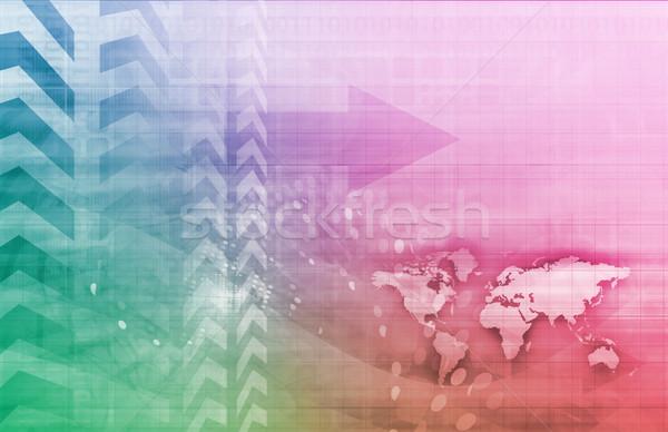 Business globale strategia arte business tecnologia Foto d'archivio © kentoh
