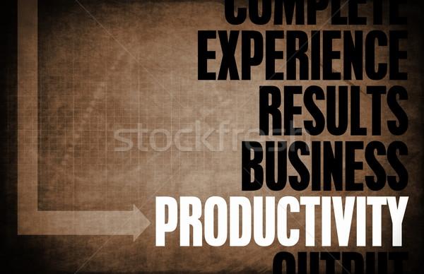 Produktiviteit kern principes business retro digitale Stockfoto © kentoh