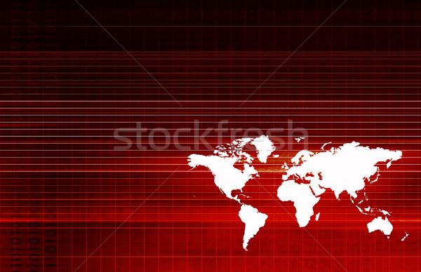 Globális logisztika ellátás lánc hálózat üzlet Stock fotó © kentoh