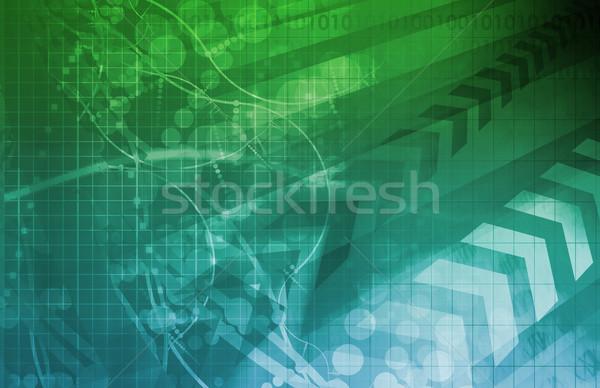 Modern tudomány vállalati művészet internet absztrakt Stock fotó © kentoh