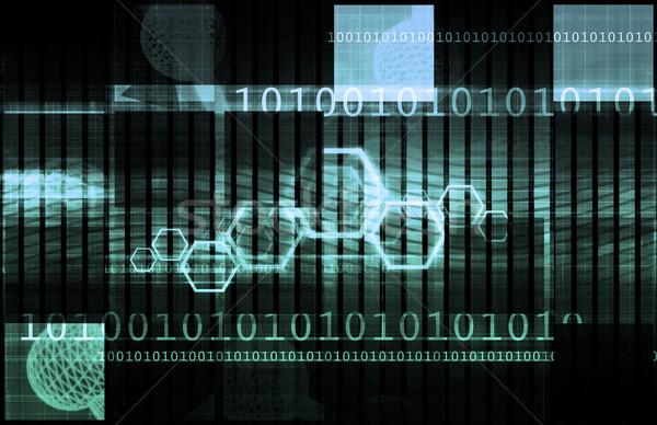 Mercato azionario analisi tendenze futuro digitale informazioni Foto d'archivio © kentoh