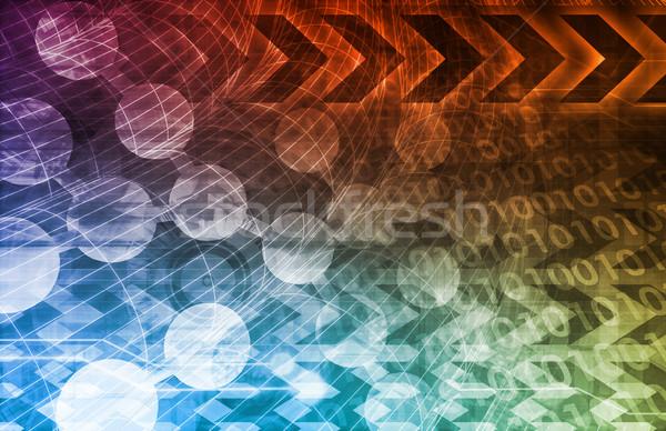 исследований бизнеса науки фон презентация ДНК Сток-фото © kentoh