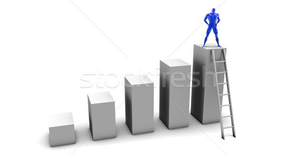 Doelen persoonlijke target succes zakenman werknemer Stockfoto © kentoh