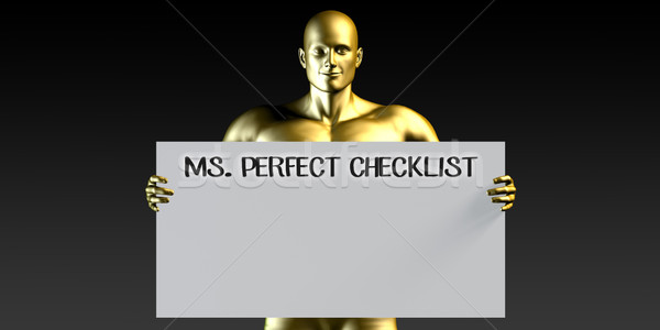 Miss Perfect Checklist Stock photo © kentoh