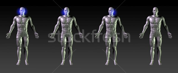 Arc gyógyulás rehabilitáció kék izzik sportok Stock fotó © kentoh
