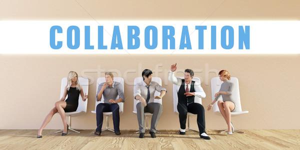 Negócio colaboração grupo reunião homem fundo Foto stock © kentoh