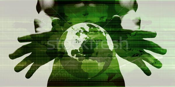 футуристический искусства аннотация цифровая технология технологий сеть Сток-фото © kentoh
