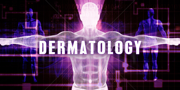 Dermatologia tecnologia digitale medici arte uomo abstract Foto d'archivio © kentoh