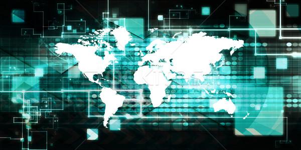 Uluslararası lojistik tedarik zincir bilgisayar toplantı Stok fotoğraf © kentoh