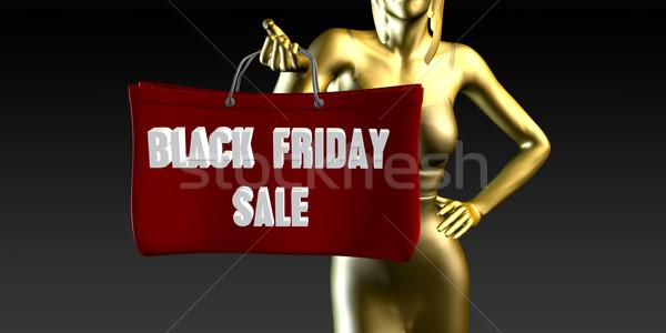 Black friday vendita vendite evento speciale nero Foto d'archivio © kentoh